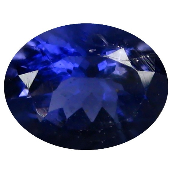 GENUINE NATURAL HUGE IOLITE WATER SAPPHIRE 5.6CT SOLID 925 STERLING SILVER RING